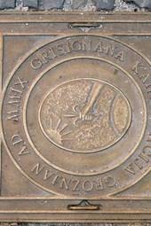 A Manhole Cover in Groznjan, Croatia
