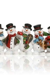 A Row of Happy Snowmen, for the Love of Christmas
