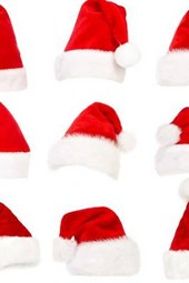 A Collage of Santa Hats, for the Love of Christmas