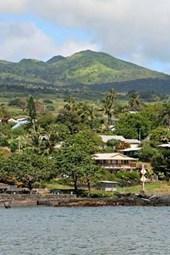An Aerial View of Tropical Hana Bay, Maui in Hawaii