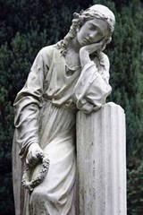 Grieving Woman Stone Statue Journal | Cool Image |