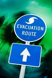 Hurricane Evacuation Route Sign Journal