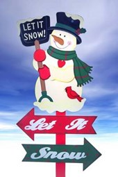 Let It Snow Christmas Snowman Journal