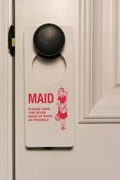 Maid Service Sign Journal