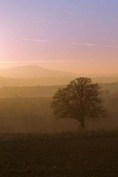 Sunset Over Clee Hills in Shropshire UK Journal