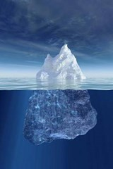 An Iceberg Above and Below the Water in Antarctica | Unique Journal |
