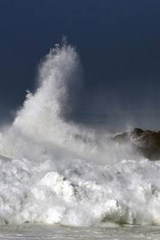 An Ocean Storm Waves Crashing Against the Lighthouse | Unique Journal |