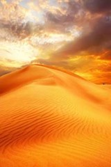 Beautiful Sunset Over the Sand Dunes of the Sahara Desert in Africa | Unique Journal |