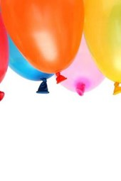 Birthday Party Balloons in the Air