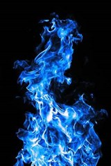 Amazing Blue Flames Rising in the Air | Unique Journal |