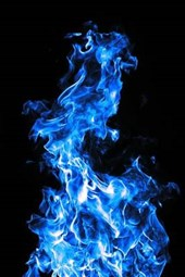 Amazing Blue Flames Rising in the Air