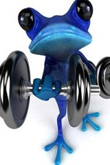 Blue Frog Working Out | Unique Journal |