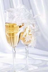 Champagne and White Silk