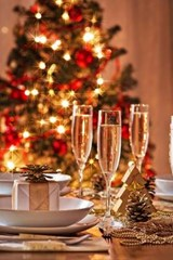 Champagne on Christmas Eve | Unique Journal |