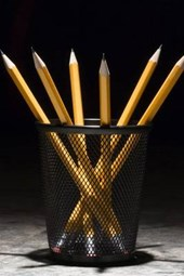 Cool Shot of a Cup of Pencils