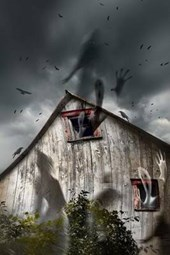Ghosts Flying from the Haunted Barn