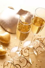 Gold Hearts and Champagne | Unique Journal |