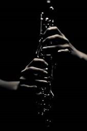Jazz Man Silhouette in Black