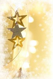 Merry Christmas Stars on a Yellow Background