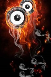 Music Speakers on Fire