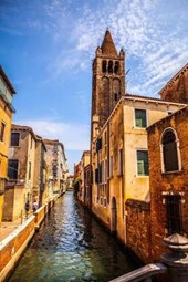Buildings Along a Canal in Venice Italy Journal