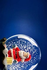 Santa in a Christmas Snowglobe | Unique Journal |