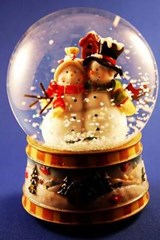 Snowman Christmas Snowglobe | Unique Journal |