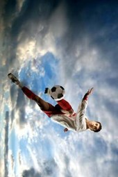 Soccer (Football) Player Going for the Goal