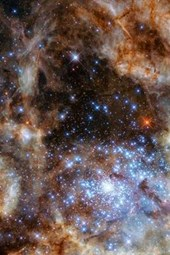 Star Cluster R136 Outer Space