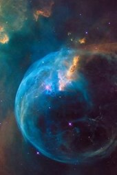 Stunning Bubble Nebula (Ngc 7635) Outer Space