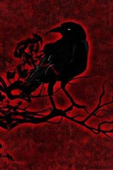 Black Raven on Red | Unique Journal |