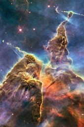 Mystic Mountain in the Carina Nebula Outer Space