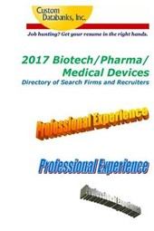 Biotech/Pharma/medical Devices Directory of Search Firms and Recruiters