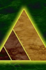 Cool Artistic Triangles on Green | Unique Journal |