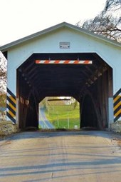 A Covered Bridge in Strasburg, Pennsylvania