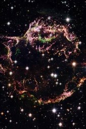Supernova Remnant Cassiopeia a Outer Space