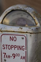 An Old White Parking Meter | Unique Journal |
