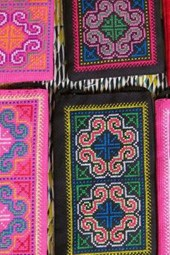 Laos Laotian Silk Embroidery
