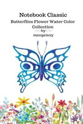 Notebook Classic Butterflies Flower Water Color Collection V.12