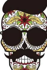 Website Password Organizer a Sugar Skull with a Hat, Mustache, and Shades | Unique Journal |