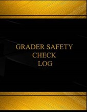 Grader Safety Check Black Log Journal