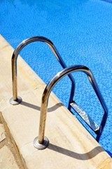 Stainless Steel Ladder in the Swimming Pool Journal | Cool Image |