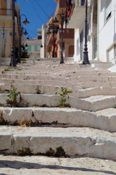 Website Password Organizer Narrow White Stairs in Crete, Greece