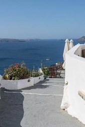 Website Password Organizer Path Along the Sea in Santorini, Greece