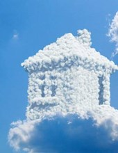 Jumbo Oversized Cute Cottage in the Clouds