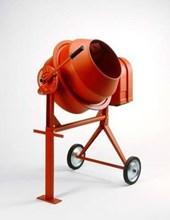 Jumbo Oversized Isolated Red Cement Mixer
