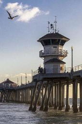 Huntington Beach Pier at Low Tide California USA Journal
