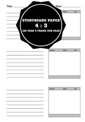 Storyboard Paper