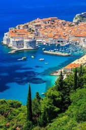 View of the Old Town in Dubrovnik Croatia Lined Journal