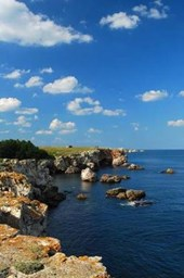 Scenic Rocky Coast of the Black Sea in Bulgaria Lined Journal